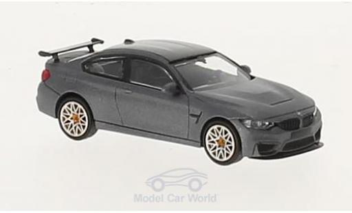 Bmw M4 1/87 Minichamps BMW GTS matt-grau 2016 mit orangen Felgen modellautos