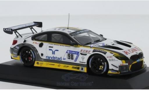Bmw M6 1/43 Minichamps GT3 No.18 ROWE Racing 24h Nürburgring 2018 N.Catsburg/R.Westbrook/C.Edwards/S.Blomqvist miniature