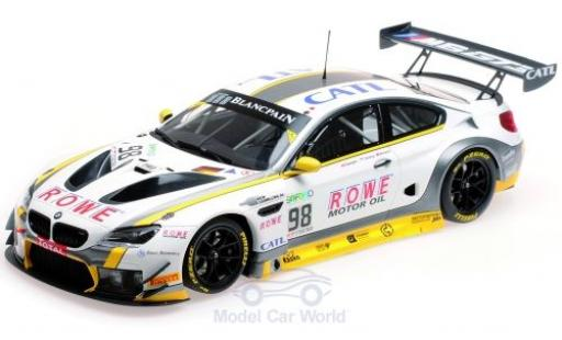 Bmw M6 1/18 Minichamps GT3 No.98 Rowe Racing 24h Spa 2017 T.Blomqvist/N.Catsburg/B.Spengler miniature