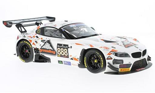 Bmw Z4 1/18 Minichamps GT3 (E89) No.888 Triple Eight Racing 24h Spa 2015 L.Mowle/R.Ratcliff/J.Osborne/D.Müller miniature