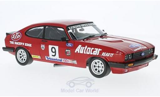 Ford Capri 1/18 Minichamps 3.0 RHD No.9 Gordon Spice Group BSCC Brands Hatch 1978 G.Spice miniature