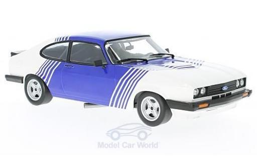 Ford Capri 1/18 Minichamps 3.0 blanche/bleue 1978 miniature