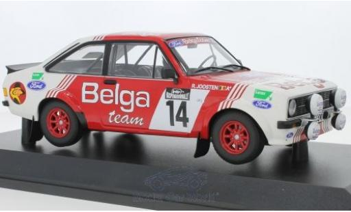 Ford Escort 1/18 Minichamps MK II RS 1800 No.14 Belga Team Belga Lotto Haspengouwrally 1983 R.Droogmans/R.Joosten miniature
