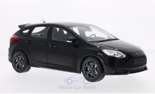 Ford Focus ST 1/18 Minichamps metallise black 2011 diecast model cars