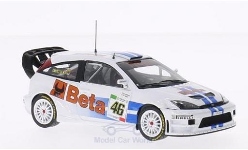 Ford Focus 1/43 Minichamps WRC No.46 Beta Rallye Monza 2007 V.Rossi Collection V.Rossi/C.Cassina miniature