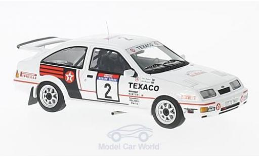 Ford Sierra Cosworth 1/43 Minichamps  Cosworth No.2 Texaco Tour de Corse 1987 S.Blomqvist/K.Grundel miniature