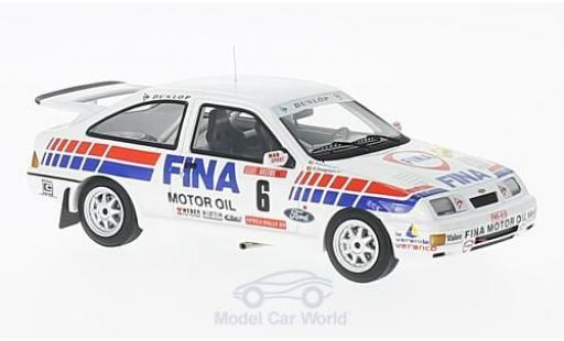 Ford Sierra Cosworth 1/43 Minichamps  Cosworth No.6 RAS Sport Fina Rallye Ypres 1989 R.Droogmans/R.Joosten miniature