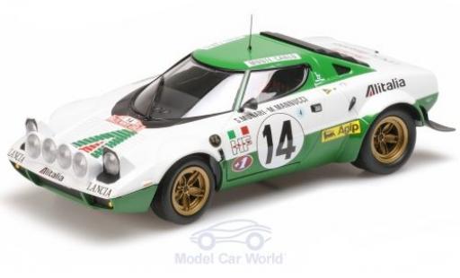 Lancia Stratos 1/18 Minichamps HF No.14 Rallye WM Rallye Monte Carlo 1975 S.Munari/M.Mannucci miniature