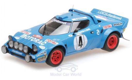 Lancia Stratos 1/18 Minichamps HF No.4 Chardonnet Motorac Rallye WM Rallye Monte Carlo 1979 B.Darniche/A.Mahe miniature