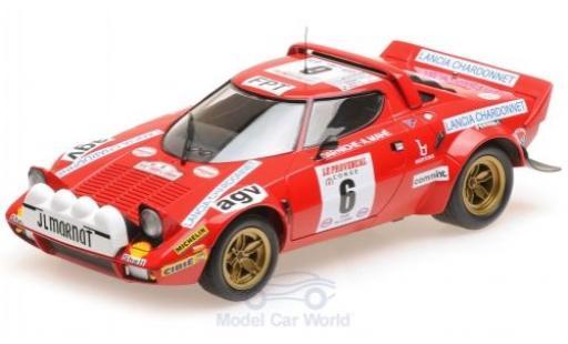 Lancia Stratos 1/18 Minichamps HF No.6 Rallye WM Rallye Tour de Corse 1975 B.Darniche/A.Mahe miniature