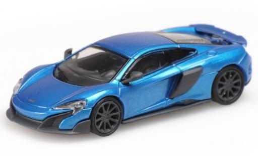 McLaren 675 1/87 Minichamps LT metallise blue 2016 diecast model cars