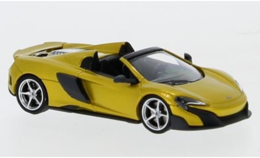 McLaren 675 1/87 Minichamps LT Spider gold 2016 diecast model cars