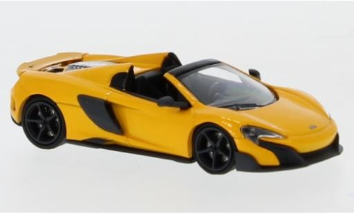 McLaren 675 1/87 Minichamps LT Spider metallise jaune 2016 miniature