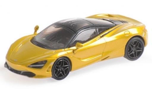 McLaren 720 1/87 Minichamps S metallise yellow diecast model cars