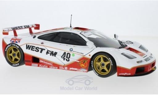 McLaren F1 1/18 Minichamps GTR No.49 West Competition West 24h Le Mans 1995 L.E.Nielsen/J.Mass/T.Bscher ohne Vitrine miniature