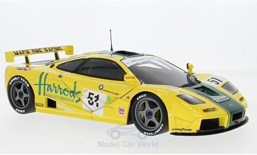 McLaren F1 1/18 Minichamps GTR No.51 Harrods Mach one Racing Harrods 24h Le Mans 1995 A.Wallace/D.Bell/J.Bell miniature