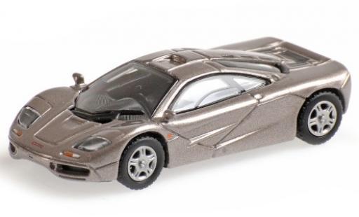 McLaren F1 1/87 Minichamps Roadcar metallise grise 1994 miniature
