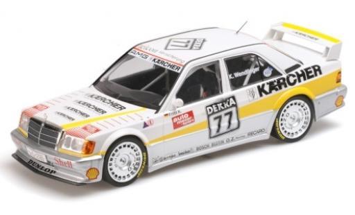 Mercedes 190 1/18 Minichamps E 2.5-16 EVO 1 No.77 Team AMG- Kärcher DTM 1989 F.Kreuzpointner diecast model cars