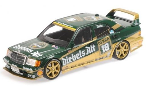 Mercedes 190 1/18 Minichamps E 2.5-16 Evo 2 No.18 Team Zakspeed Diebels Alt DTM 1992 K.Thiim diecast model cars