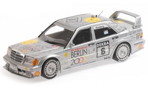 Mercedes 190 1/18 Minichamps E 2.5-16 EVO 2 No.6 Team AMG- Berlin 2000 DTM 1992 K.Rosberg diecast model cars