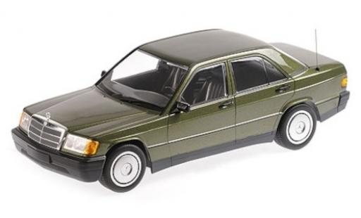 Mercedes 190 1/18 Minichamps E (W201) metallise verte 1982 miniature