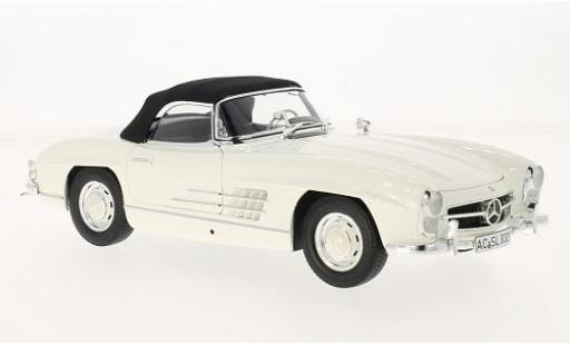 Mercedes 300 1/18 Minichamps SL Roadster (W198 I) blanche/noire 1957