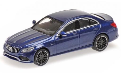 Mercedes Classe C 1/87 Minichamps AMG C63 (W205) metallise blue 2019 diecast model cars