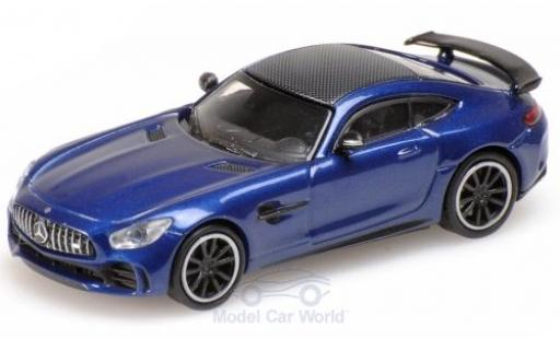 Mercedes AMG GT 1/18 Minichamps -R metallise blue 2017 diecast model cars
