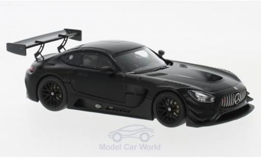 Mercedes AMG GT 1/43 Minichamps 3 matt-noire 2017 Plain Body Version miniature