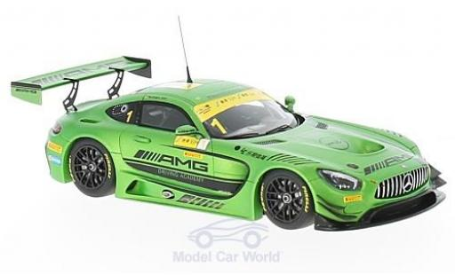 Mercedes AMG GT 1/43 Minichamps 3 No.1 -AMG Driving Academy Fia GT World Cup Macau 2016 M.Engel
