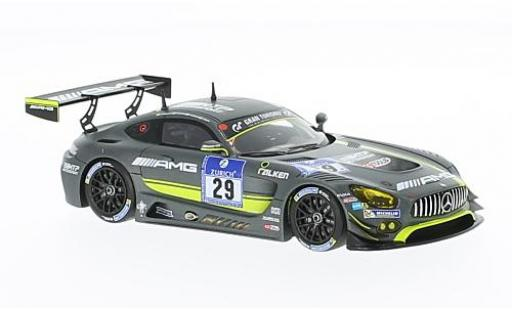 Mercedes AMG GT 1/43 Minichamps 3 No.29 AMG-Team HTP Motorsport 24h Nürburgring 2016 C.Vietoris/M.Seefried/C.Hohenadel/R.van le Zande diecast model cars