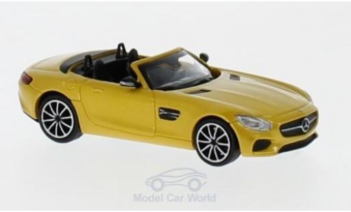 Mercedes AMG GT 1/87 Minichamps S Roadster metallise yellow 2017 diecast model cars