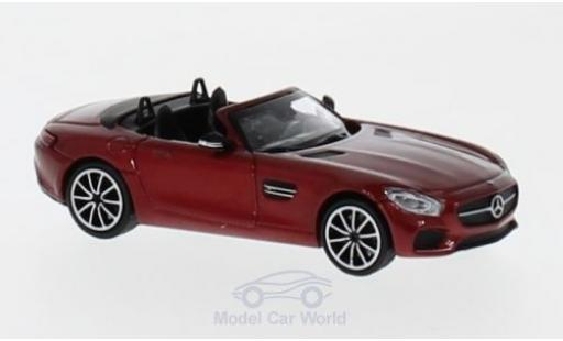 Mercedes AMG GT 1/87 Minichamps S Roadster metallise rouge 2017 miniature