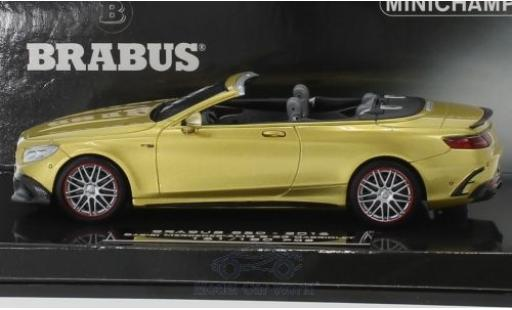 Mercedes Classe S 1/43 Minichamps Brabus 850 Cabriolet gold 2016 Basis AMG S 63 Cabriolet diecast