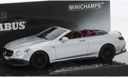 Mercedes Classe S 1/43 Minichamps Brabus 850 grey 2016 Basis AMG S 63 Cabriolet diecast