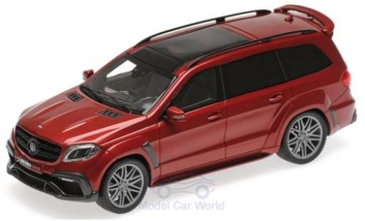 Mercedes Classe S 1/43 Minichamps Brabus 850 Widestar XL metallise red 2017 Basis AMG GLS 63 diecast model cars