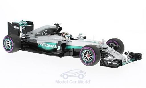 Mercedes F1 1/18 Minichamps W07 Hybrid No.44 AMG Petronas Team Petronas Formel 1 GP Abu Dhabi 2016 L.Hamilton miniatura