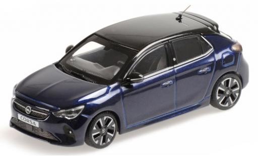 Opel Corsa 1/43 Minichamps E metallise blue/metallise black 2019 diecast model cars