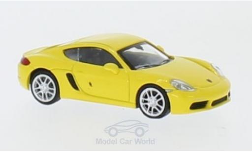 Porsche 718 1/87 Minichamps Cayman jaune 2016 miniature