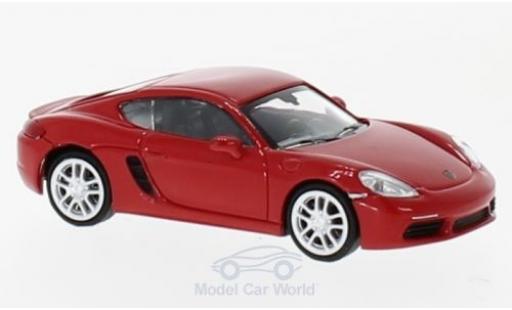 Porsche Cayman 1/87 Minichamps 718 rouge 2016 miniature