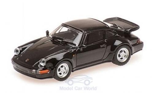Porsche 964 Turbo 1/87 Minichamps 911  noire 1990 miniature