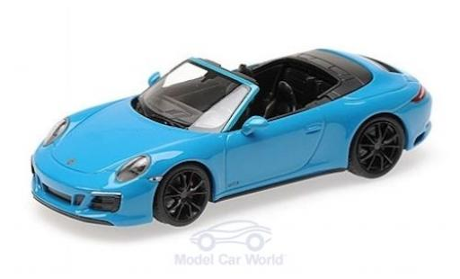 Porsche 991 GTS 1/43 Minichamps 911 (.2) Carrera 4 Cabriolet blue 2016 diecast model cars