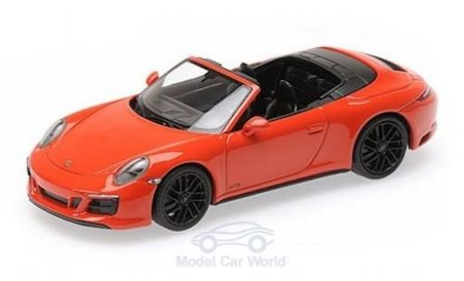 Porsche 991 GTS 1/43 Minichamps 911 (.2) Carrera 4 Cabriolet orange 2017 diecast model cars
