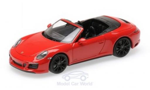 Porsche 991 GTS 1/43 Minichamps 911 (.2) Carrera 4 Cabriolet red 2016 diecast model cars