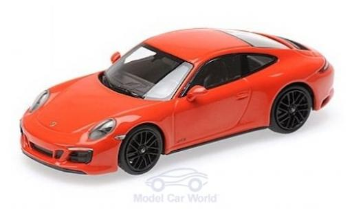 Porsche 991 GTS 1/43 Minichamps 911 (.2) Carrera 4 orange 2017 diecast model cars