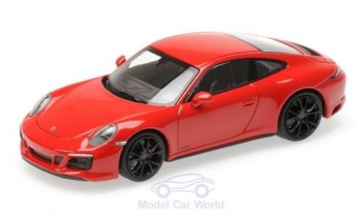 Porsche 991 GTS 1/43 Minichamps 911 (.2) Carrera 4 red 2017 diecast model cars