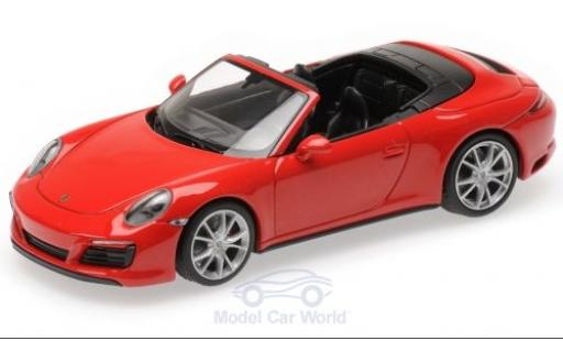 Porsche 991 4S 1/43 Minichamps 911 (.2) Carrera Cabriolet red 2016 diecast model cars
