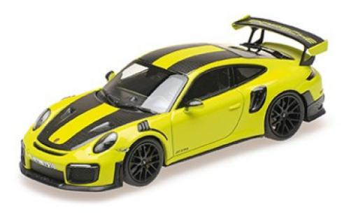 Porsche 991 GT2 RS 1/18 Minichamps 911 (.2) green 2018 avec Weissach Paket diecast model cars