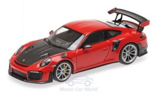 Porsche 911 1/43 Minichamps (991.2) GT2 RS rouge/noire 2018 miniature