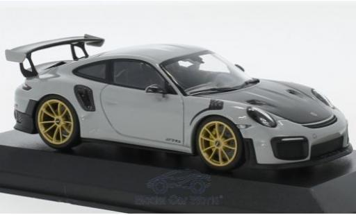 Porsche 991 GT2 RS 1/43 Minichamps 911 (.2) GT2RS grey 2018 diecast model cars